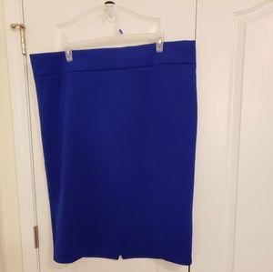 Eloquii cobalt blue neoprene skirt like new!